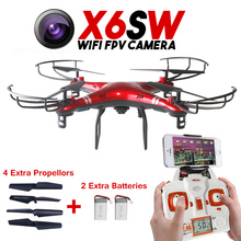 2016 X6sw WIFI Fpv Toys Camera RC font b helicopter b font drone quadcopter professional drones