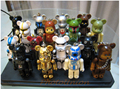 Free Shipping 16 pieces lot Star Wars x Bear Cute Pendants STARWARS Special Editions Ursa Toy