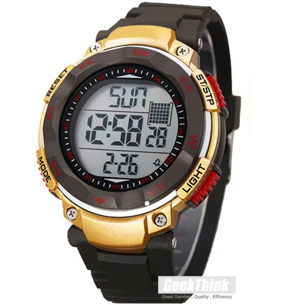 China cheap electronic watches Men Sports Watch silicone Table 2 Time Zone Digital Quartz Electronic LED Watch Relogio Masculino(China (Mainland))