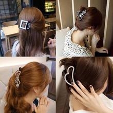 Korean dish made horsetail hair ornaments head withholding Korean rhinestone flower clip banana clip for hairpins hair gripper(China (Mainland))