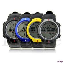 Fashion Waterproof Men's LCD Digital Stopwatch Date Rubber Sport Wrist Watch Free Shipping