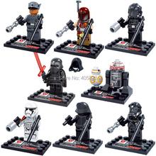 Star Wars Minifigures Single Sale Kylo Ren BB-8 TIE Pilot Solo darth Vader Yoda Figures Blocks Models & Building Toys legoelieds(China (Mainland))