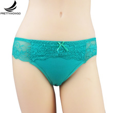 Buy Prettywowgo Underwear New Arrival 2017 Solid Color Sexy Lace Women Cotton Panties 6975 for $1.31 in AliExpress store