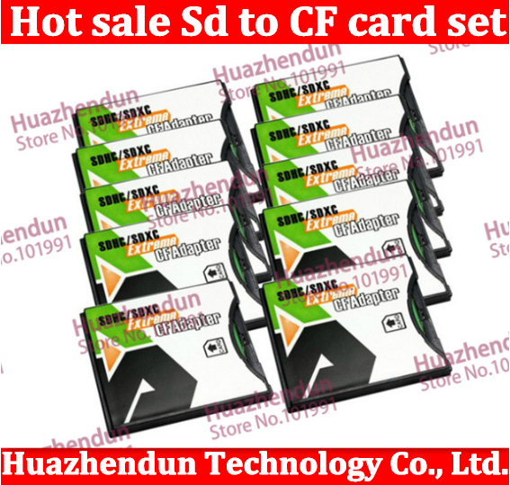 5pcs/lot HK post SDHC SD MMC SDHC 4/64GB to Compact Flash CF Type II Card Reader Adapter SD to CF card sets wifiSD TO CF(China (Mainland))