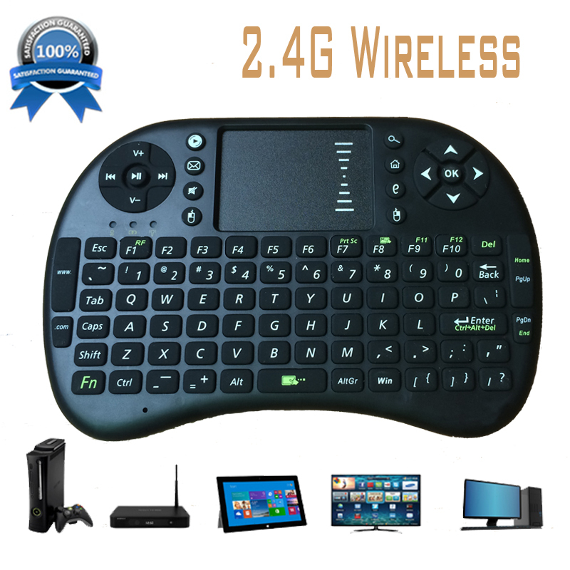 2015 hot sell Portable mini keyboard Rii Mini i8 Wireless Bluetooth 2.4G Keyboard with Touchpad for PC Pad Google Andriod TV(China (Mainland))