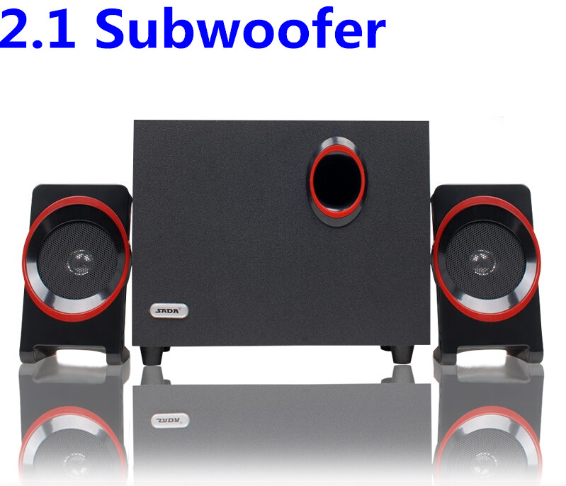 Laptop desktop mini wooden stereo speakers USB 2.1 subwoofer support TF card 3.5mm audio input connect with samsung and computer<br><br>Aliexpress