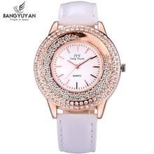 ผู้หญิงแฟชั่นนาฬิกาRose G Old R Hinestoneสุภาพสตรีสายหนังนาฬิกาควอทซ์อะนาล็อกนาฬิกาข้อมือนาฬิกาชั่วโมงของขวัญRelógio Feminino