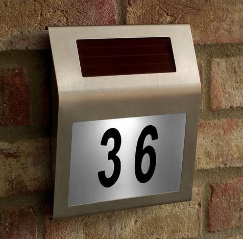 Solar Power Stainless Steel LED Doorplate Light House Street Address Number Lamp(China (Mainland))