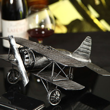 The tin model plane iron crafts and gifts of world war ii photography props props iron plane model(China (Mainland))