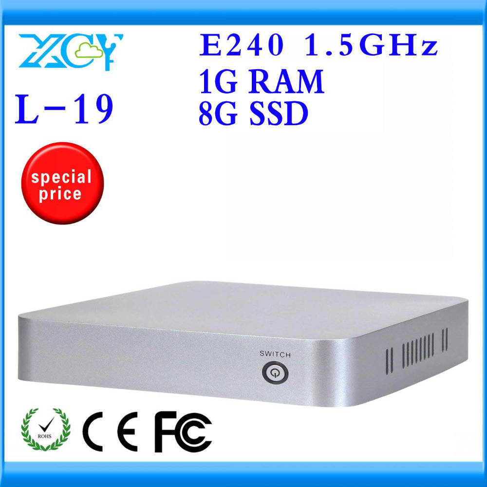 XCY Mini PC L-19 E240 Single core Cheapest with Fan Plastic Case with HDMI Support High Definition Movies Office Work Computer.(China (Mainland))