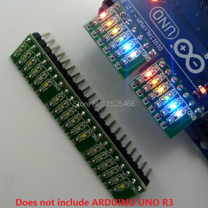 Pcs dc v bit multicolor led module board for