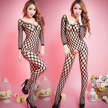 Jacquard Siamese sack netting perspective sexy one-piece fishnet stockings stockings sexy lingerie suit exotic apparel accessory