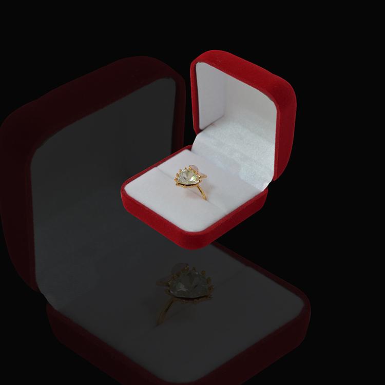 Promotion Engagement Red Velvet Ring Box for Jewelry Display Holder Case Velvet Storage Organizer Gift Packaging(China (Mainland))