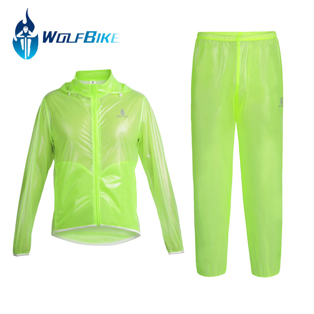 Wolfbike Rain Jacket Waterproof Windproof Sport Cycling Bike Bicycle Jacket Jersey Dust Coat Skin Suit Clothing Apparel Chaqueta(China (Mainland))