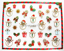 Crazy cute christmas 3d nail art stickers last deal 12 pieces each pack