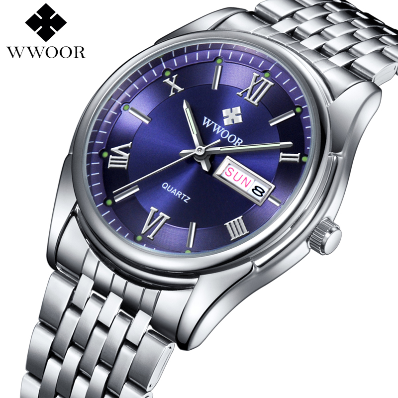Hot Sale Men Watches Top Brand Luxury Day Date Stainless Steel Luminous Hour Clock Male Casual Quartz Watch Men Sport Wristwatch(China (Mainland))