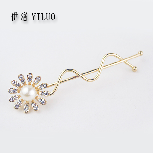 Women Hair Accessories Lovely Vintage Jewelry Crystal Flower Hair Clips - For Girls Hair Glip Beauty FREE SHIPPING(China (Mainland))