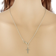 New Cross Pattern Pendant 2 Color Pick Necklace Women Chain Necklaces Pendants Jewelry Accessories Gifts Free