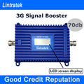 Lintratek 3G Signal Amplifier LCD Display Mobile Phone Repeater W CDMA 2100mhz 70db High Gain UMTS