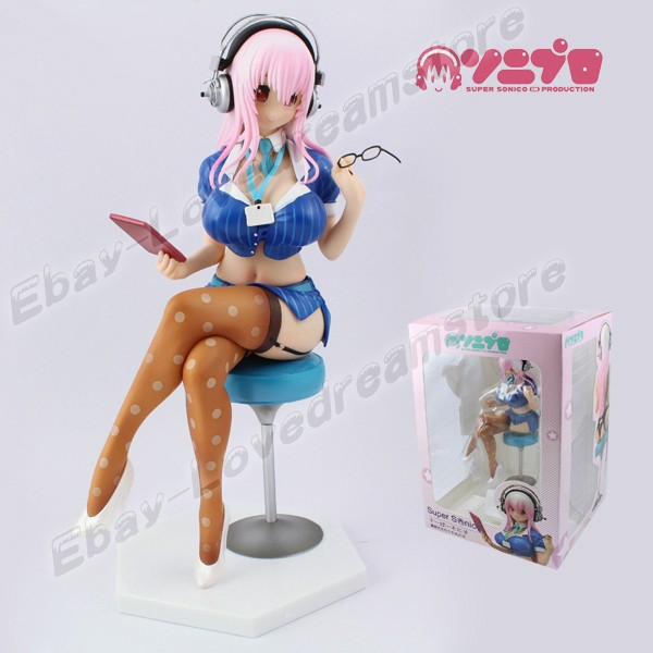 "Здесь можно купить  FREE SHIPPING Japanese Animation Sexy Girl SUPER SONICO 22cm/8.8"" PVC 1/7 Scale Painted Figure No Box & In Box FREE SHIPPING Japanese Animation Sexy Girl SUPER SONICO 22cm/8.8"" PVC 1/7 Scale Painted Figure No Box & In Box Игрушки и Хобби"