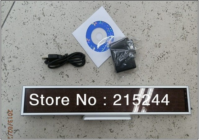 high quality! 54(H)^338(W)*15(T)mm Dot 16*48 RED Color LED Programmable Scrolling Message Display Sign FREE SHIPPING!