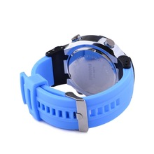SHHORS Fashionable Colorful Silicon Wristband Multi fuction Casual Sport Watch Waterproof Color Sky Blue Waterproof