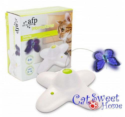 CS0004 afp All For Paws Interactives Cat Toys Electric Rotate Flutter Bug Butterfly(China (Mainland))