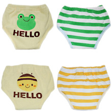 4pcs Training Pants 6-Layers Baby Nappies Cloth Diaper Child Baby Swim Diaper Reusable Toddler Nappy Changing For Autumn Winter(China (Mainland))