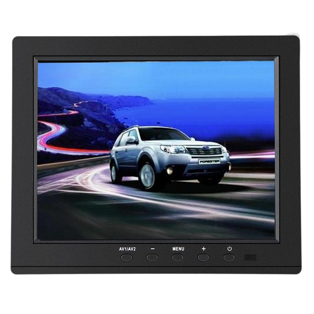 S801H 8 inch IPS LCD Monitor Screen 4:3 1024 * 768 AV BNC VGA HD Ypbpr Video Audio Input for PC CCTV Security VCD DVD EU/US Plug(China (Mainland))