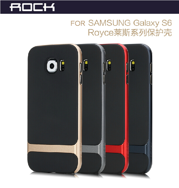 ROCK Brand Luxury High Quality PC Silicone Capa For Samsung Galaxy S6 Case Hybrid G9200 Tough Covers Armor Mobile Phone Bags(China (Mainland))