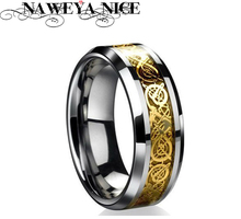 Free Shipping Dragon 316L stainless steel Ring Mens Jewelry Wedding Band male ring for lovers(China (Mainland))