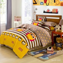 100%cotton owl girls/boys bedding set stripe point bed linen include duvet cover flat sheet pillowcase queen/twin size free ship(China (Mainland))