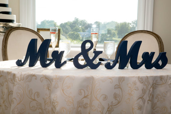 personalised mr mrs letters in white mr and mrs wooden letters ...