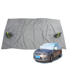 Universal Car Half Covers Styling Waterproof Sunshade Snow Resistant Breathable Anti-UV Protection Outdoor Indoor Shield(China (Mainland))