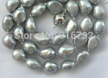 """Buy Hot sell Noble- Free shipping@@@@@ YH@CS >>>sstunning 11mm baroque gray freshwater cultured pearl necklace 16"""" for $12.17 in AliExpress store"""