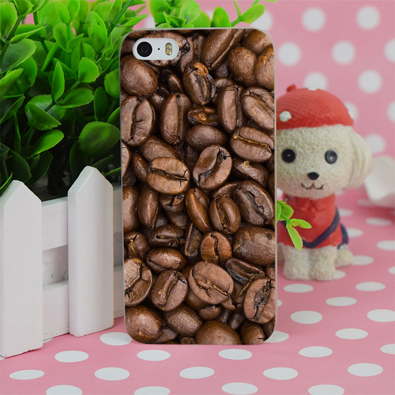 B0699 Coffee Corn Beans Surface Transparent Hard Thin Case Cover For Apple iPhone 4 4S 5 5S SE 5C 6 6S 6Plus 6s Plus(China (Mainland))