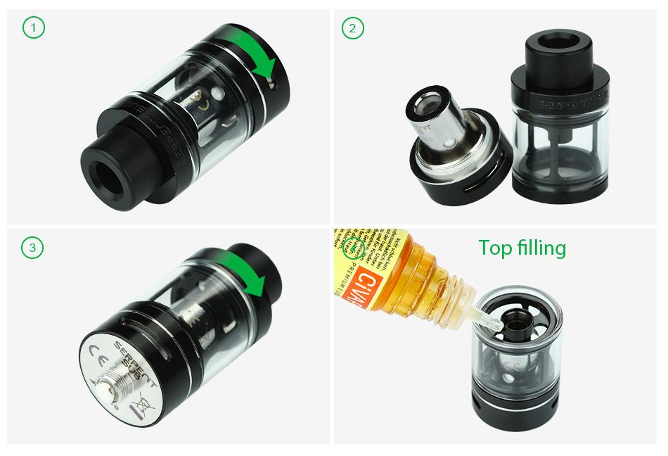ถูก เดิมWOTOFOงูSub 22ถังบุหรี่อิเล็กทรอนิกส์3.5มิลลิลิตร0.5ohmขดลวดด้านล่างที่สามารถปรับได้ไหลเวียนของอากาศด้านบนกรอกเครื่องฉีดน้ำ