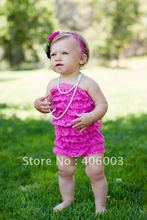 wholesale free shipping  6color baby lace petti romper dress mixed color available(China (Mainland))
