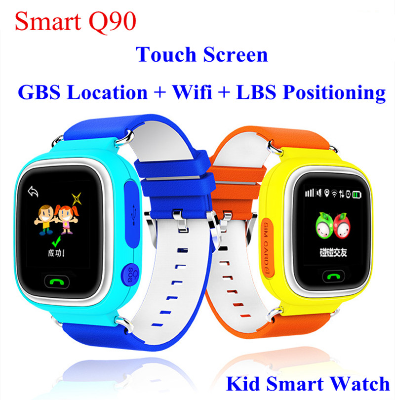 GPS Q90 Touch Screen WIFI Positioning Smart Watch Children SOS Call Lo