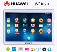 Huawei Tablet 9.7 inch MTK6592 Octa Core 1920*1080 IPS 3G Phone Call Android 4.4 Tablet PCS 2G/32GB Dual Sim Card Wifi Bluetooth
