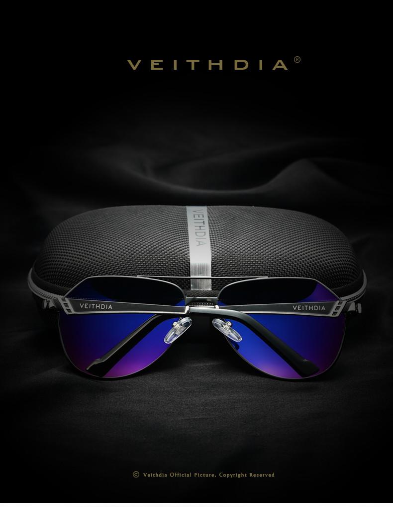 VEITHDIA Brand Stainless Steel Men's Sunglasses Polarized Mirror Lens Eyewear Accessories Driving Sun Glasses For Men 3559