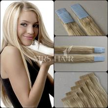 """Cheap Tape Hair Extensions 18"""" 20"""" 22"""" 20pcs 100% Thick Remy Brazilian Human Skin Weft Colorful Hair Beautiful Product Promotion(China (Mainland))"""