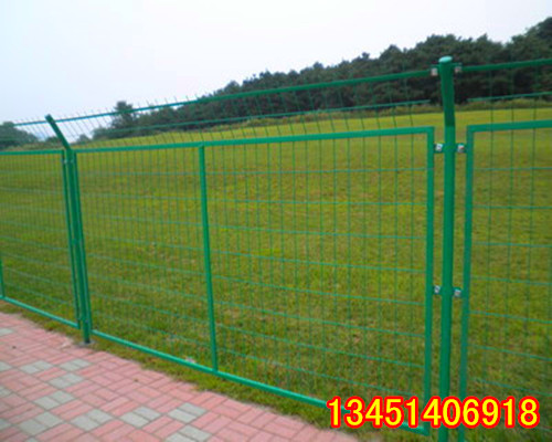 Frame fence barbed wire highway municipal decorative