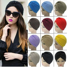 1pc Women Unisex Indian Stretchable Turban Hat Hair Head Wrap Cap
