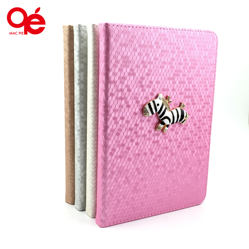 2016 New Fashion Zebra Bling Texture Design Flip Protect Classic Stand PU Leather Smart Case Cover for iPad 4 iPad 3 iPad 2(China (Mainland))