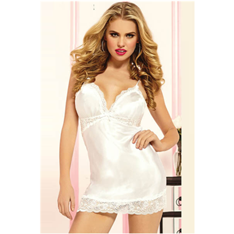 Lower Price Sexy Satin Robe Lace Babydoll for Womens Sleepwear Bedroom Wear Hot Girls Sexy Sleepwear Comfortable L27725-6(China (Mainland))