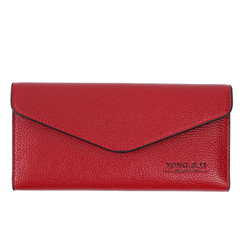 Brand Genuine Leather Women Wallets Long thin ladies coin Purse Cowhide Cards Holder Clutch bag Fashion magic Wallet female(China (Mainland))