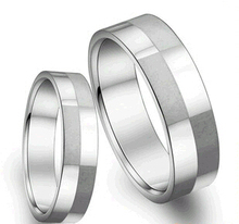 (min order 10$) Concise fashion cells finger jewelry lovr couple titanium steel rings  036