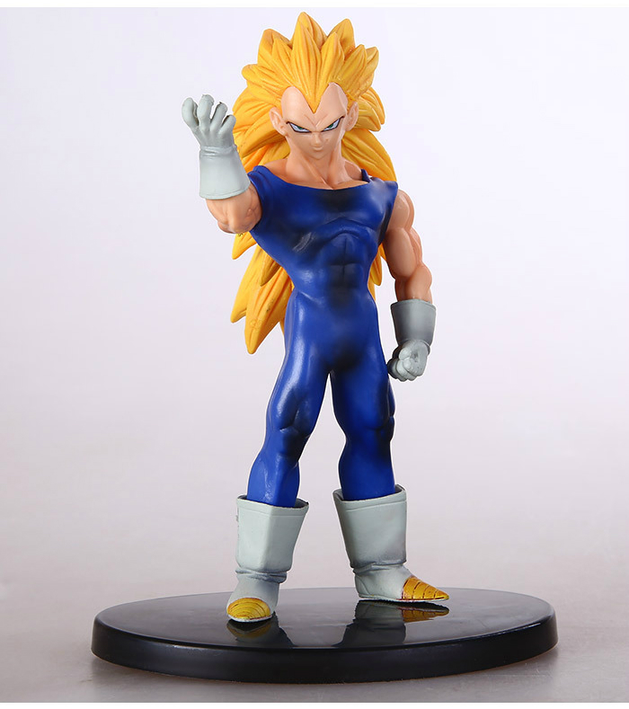 Dragon Ball Z Action Figures Collectible Toy Anime Figure Vegeta Super Saiyan 3 Pvc 16cm Model Finished Goods Japan Soldier Set(China (Mainland))