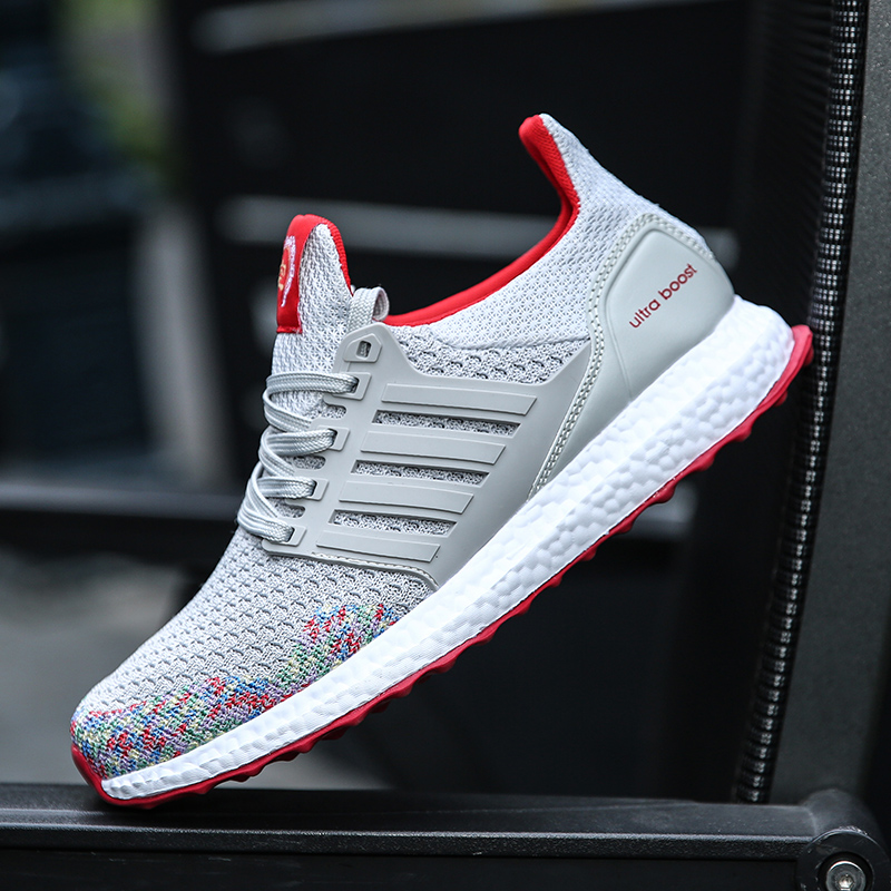 2017 Male Shoes Sport Tenis Men Shoes Red Bottoms for Men Casual Shoes Mens Trainers Cheap Shoe Fly Weave Ultras Boosts Krasovki(China (Mainland))